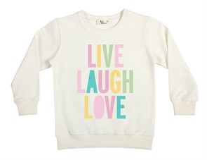 Live Laugh Çocuk Sweatshirt