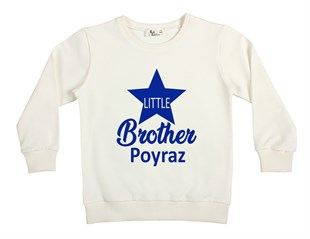 İsme Özel Little Brother Çocuk Sweatshirt