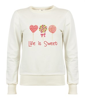 Life is Sweet Kadın Sweatshirt