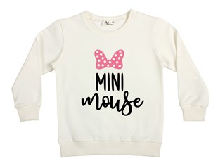 Pembe Mini Mouse Çocuk Sweatshirt