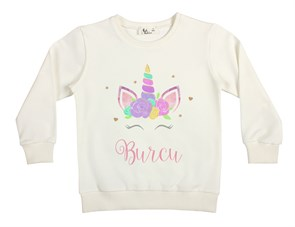 Rainbow Unicorn Çocuk Sweatshirt