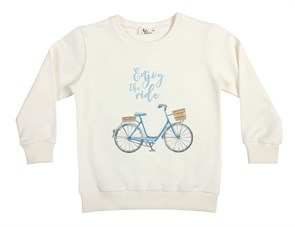 Enjoy The Ride - Mavi Çocuk Sweatshirt
