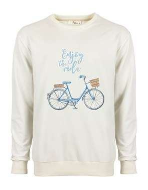 Enjoy The Ride Mavi Erkek Sweatshirt
