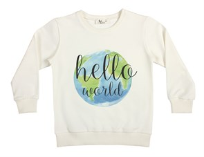 Hello World Çocuk Sweatshirt